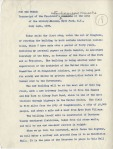 Informal remarks made by FDR at the FDR Library, pg1