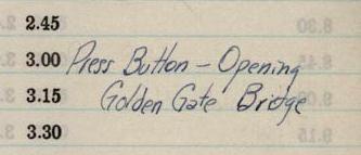 """Press Button - Opening Golden Gate Bridge"""