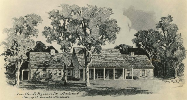 Architect's drawing of To Cottage exterior