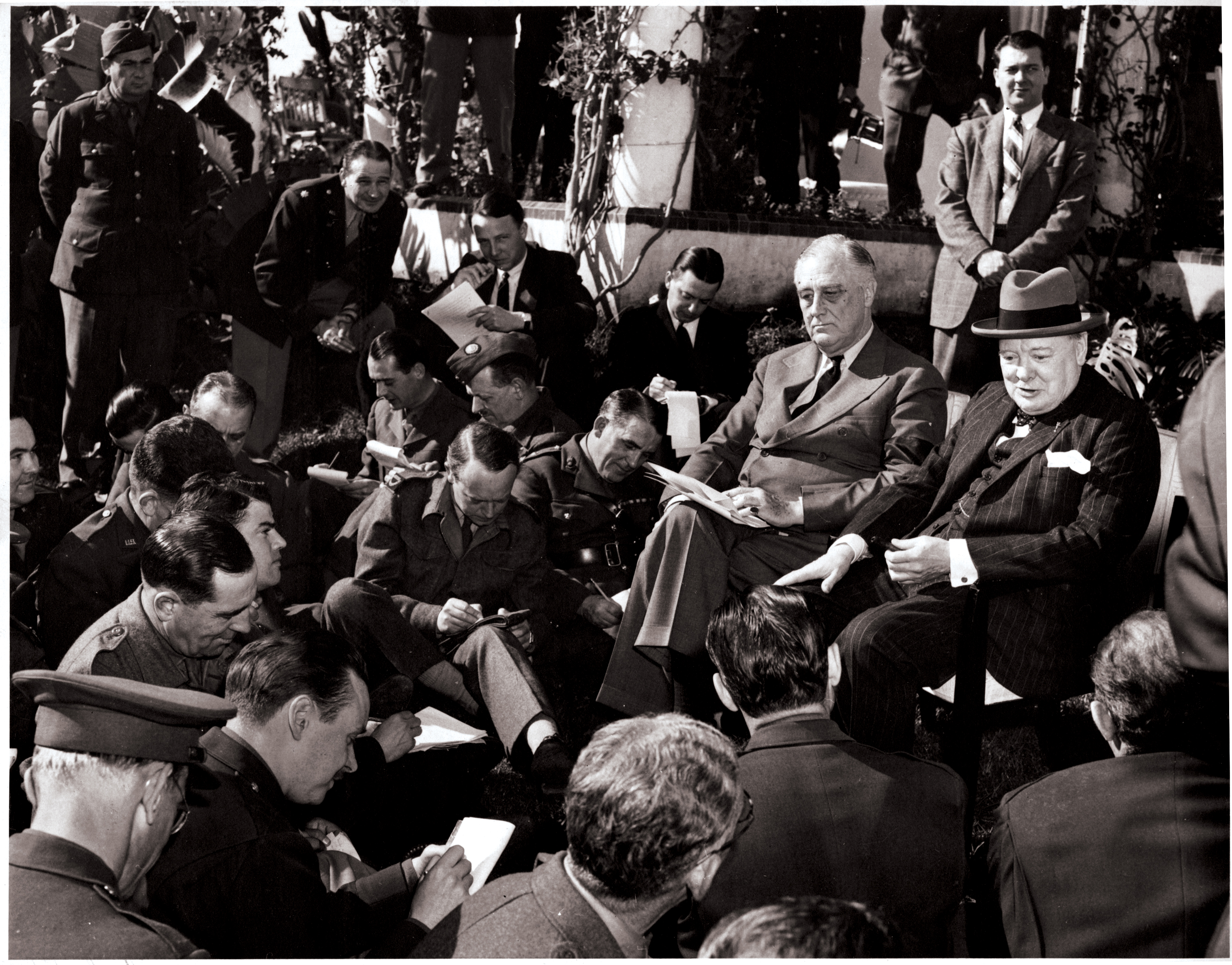 churchill and roosevelt meet in casablanca morocco